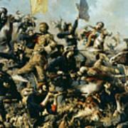Battle Of Little Bighorn Art Print