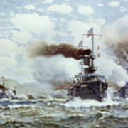 Battle Of Manila Bay 1898 Art Print