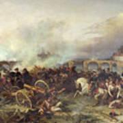 Battle Of Montereau Art Print by Jean Charles Langlois