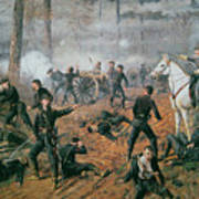 Battle Of Shiloh Art Print by T C Lindsay