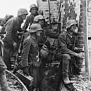 Battle Of Stalingrad  Nazi Infantry Street Fighting 1942 Art Print
