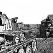 Battle Of Stalingrad Nazi Tanks Art Print