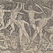 Battle Of The Nudes Art Print