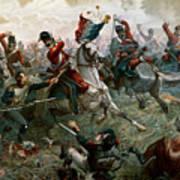 Battle Of Waterloo Art Print by William Holmes Sullivan