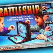 Battleship Board Game Painting  Art Print