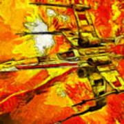 Star Wars X-wing Fighter - Oil Art Print