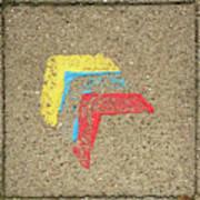 Bauhaus Symbol Paving Stone Art Print
