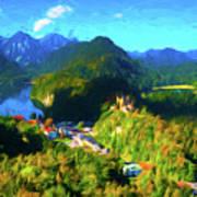 Bavarian Countryside Art Print