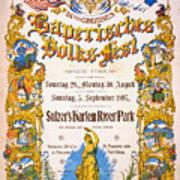 Bavarian Volksfest New York Vintage Poster 1897 Art Print
