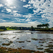 Bay At Low Tide In Clonakilty In Ireland Art Print