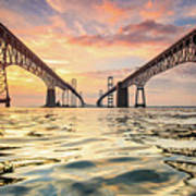 Bay Bridge Impression Art Print