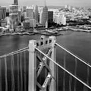 Bay Bridge Tower And San Francisco Skyline Art Print