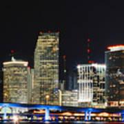 Bay Front Miami Skyline Art Print