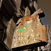 Bay Horse Cafe Sign Art Print