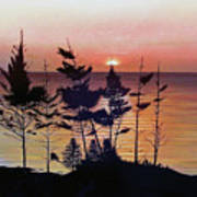 Bay Of Fundy Sunset Art Print