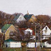 Bay View Neighborhood Art Print