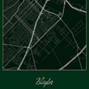 Baylor Street Map - Baylor University Waco Map Art Print