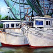 Bayou Boats Art Print