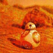 Bb-8 In The Desert - Da Art Print