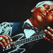 Bb King Of The Blues Art Print by Richard Klingbeil