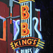 Bb King's Blues Club Art Print