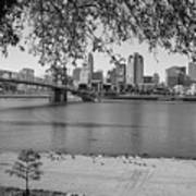 Beach An Cincinnati Skyline  Art Print