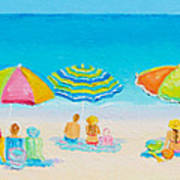 Beach Art - Crazy Lazy Summer Days Art Print