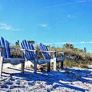 Beach Art - Waiting For Friends - Sharon Cummings Art Print