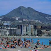 Beach At Barcelona In Spain Art Print