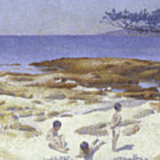Beach At Cabasson Art Print