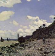 Beach At Honfleur Print by Claude Monet