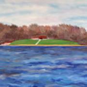 Beach At Lake Macbride Art Print