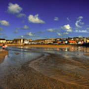 Beach At Perranporth Art Print