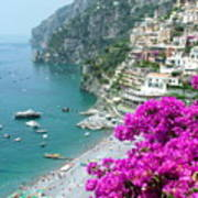 Beach At Positano Art Print