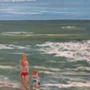 Beach Babes Art Print