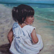 Beach Baby Art Print