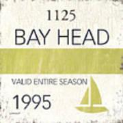 Beach Badge Bay Head Art Print
