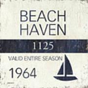 Beach Badge Beach Haven Art Print