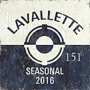 Beach Badge Lavalette Art Print