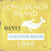 Beach Badge Long Beach Island 2 Art Print