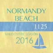 Beach Badge Normandy Beach 2 Art Print
