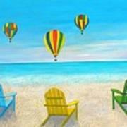 Beach Balloon Festival Art Print