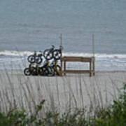 Beach Bicycles Art Print