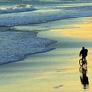 Beach Biker Art Print