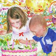 Beach Birthday Art Print