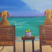 Beach Blondes Art Print