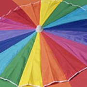 Beach Brolly Art Print