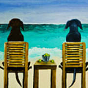 Beach Bums Art Print by Roger Wedegis