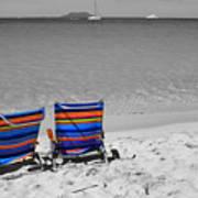 Beach Chairs 2  Art Print