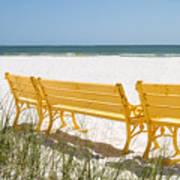 Beach Chairs By Darrell Hutto Art Print